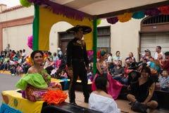 Desfile Fiestas Mexicanas Royaltyfri Fotografi