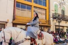 Desfile Fiestas Mexicanas. Matamoros, Tamaulipas, Mexico - March 02, 2013, Desfile Fiestas Mexicanas is part of the Charro Days Fiesta - Fiestas Mexicanas, A bi royalty free stock image