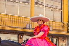 Desfile Fiestas Mexicanas. Matamoros, Tamaulipas, Mexico - March 02, 2013, Desfile Fiestas Mexicanas is part of the Charro Days Fiesta - Fiestas Mexicanas, A bi stock photography