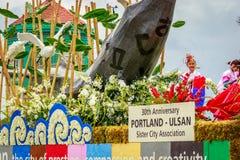 Desfile floral magnífico 2017 de Portland imágenes de archivo libres de regalías