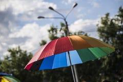 Desfile gay en el parque fotos de archivo