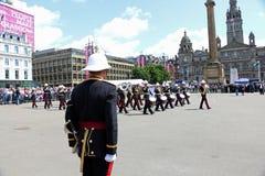 Desfile Glasgow del día de la conmemoración Imagen de archivo