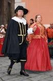 Desfile histórico en Taggia Fotos de archivo