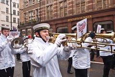 Desfile Londres del día de Año Nuevo. Imagenes de archivo