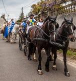 Desfile medieval Foto de archivo