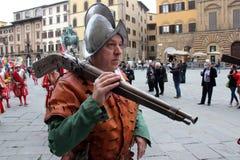 Desfile medieval florentino Foto de archivo