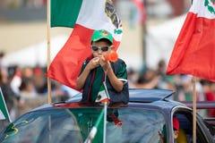 Desfile mexicano de la independencia imagen de archivo libre de regalías