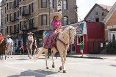 Desfile mexicano 2017 del Día de la Independencia de Pilsen Fotografía de archivo