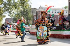Desfile mexicano 2017 del Día de la Independencia de Pilsen Imagenes de archivo