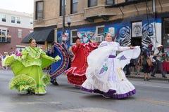 Desfile mexicano 2017 del Día de la Independencia de Pilsen Foto de archivo libre de regalías