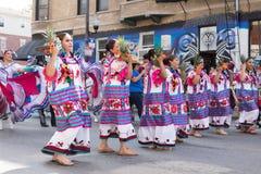 Desfile mexicano 2017 del Día de la Independencia de Pilsen Imagen de archivo