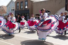 Desfile mexicano 2017 del Día de la Independencia de Pilsen Fotos de archivo