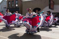Desfile mexicano 2017 del Día de la Independencia de Pilsen Foto de archivo