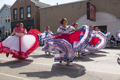Desfile mexicano 2017 del Día de la Independencia de Pilsen Fotografía de archivo libre de regalías
