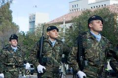 Desfile militar Foto de archivo