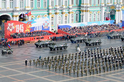 Desfile militar de la victoria. Foto de archivo libre de regalías