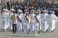 Desfile militar del día de la victoria Foto de archivo libre de regalías