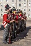 Desfile militar en Collins Barracks en Dublín, Irlanda, 2015 Fotografía de archivo