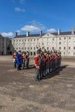 Desfile militar en Collins Barracks en Dublín, Irlanda, 2015 Foto de archivo