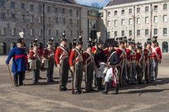Desfile militar en Collins Barracks en Dublín, Irlanda, 2015 Fotos de archivo