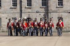 Desfile militar en Collins Barracks en Dublín, Irlanda, 2015 Foto de archivo libre de regalías
