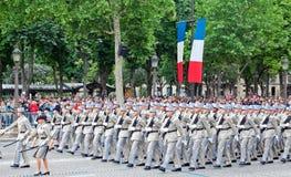 Desfile militar en día de la república Imagenes de archivo