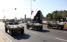 Desfile militar en Doha, Qatar Fotografía de archivo libre de regalías