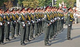 Desfile militar en Kiev (Ucrania) Imagen de archivo