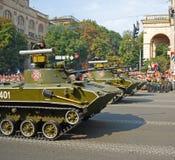 Desfile militar en Kiev (Ucrania) Imagenes de archivo