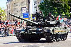 Desfile militar en Moscú en 9no mayo Foto de archivo
