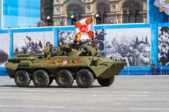 Desfile militar en Moscú, Rusia, 2015 Foto de archivo libre de regalías