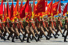 Desfile militar en Moscú, Rusia, 2015 Fotos de archivo libres de regalías