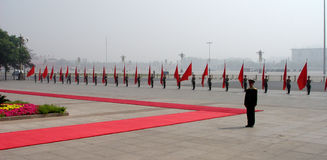 Desfile militar en Pekín Imagenes de archivo