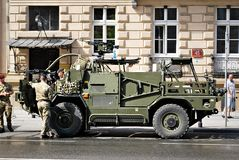 Desfile militar en Varsovia Imágenes de archivo libres de regalías