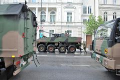 Desfile militar en Varsovia Foto de archivo libre de regalías