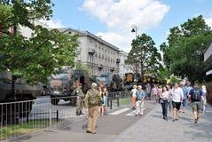 Desfile militar en Varsovia Fotos de archivo libres de regalías