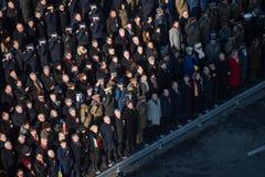 Desfile militar que celebra el día nacional de Rumania foto de archivo
