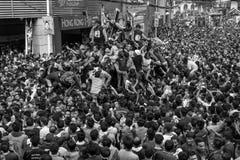 Desfile negro del Nazarene en Quiapo, Manila, Filipinas foto de archivo libre de regalías