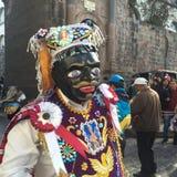 Desfile oscuro de los santos en Cusco, Perú Foto de archivo libre de regalías