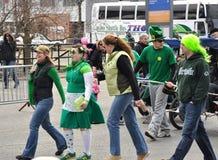 Desfile Ottawa del día del St. Patrick Foto de archivo libre de regalías