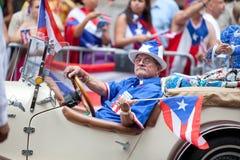 Desfile puertorriqueño del día Foto de archivo
