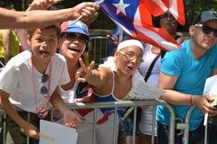 Desfile puertorriqueño 2015 del día imágenes de archivo libres de regalías