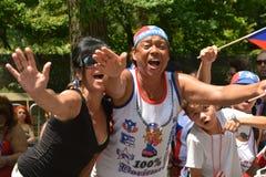 Desfile puertorriqueño 2015 del día fotografía de archivo