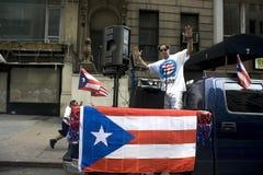 Desfile puertorriqueño del día; NYC 2012 Foto de archivo libre de regalías