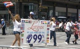 Desfile puertorriqueño del día; NYC 2012 Imagen de archivo