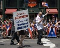 Desfile puertorriqueño del día; NYC 2012 Fotos de archivo