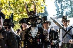Desfile punky del vapor en los tebeos 2016 de Lucca Fotos de archivo libres de regalías