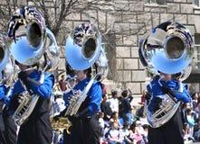 Desfile. Reflexiones en los tubos del viento fotografía de archivo libre de regalías