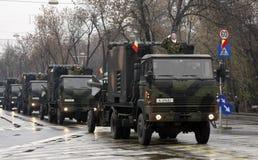 Desfile rumano del ejército fotografía de archivo