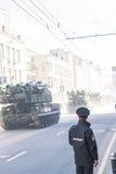 Desfile ruso del ejército Imágenes de archivo libres de regalías